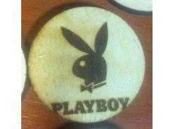 Playboy (Плейбой) - Деревянный значек, сувенир