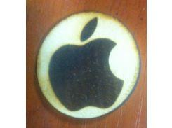 Apple - Деревянный значек, сувенир
