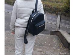 Женский стильный рюкзак тёмно-синий для прогулок, учебы, сортзала