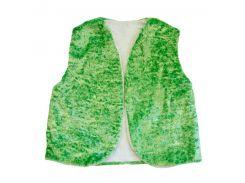 Детский маскарадный жилет 35см зеленый букле (227-11)