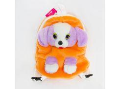Рюкзак детский Собака 32см оранжевый (2884)