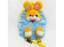 Рюкзак детский Заяц 37см голубой (2631)
