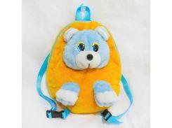 Рюкзак детский Медведь 28см желтый (2622)