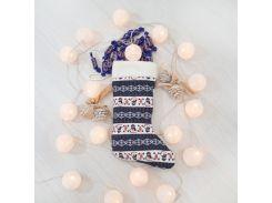 Сапог новогодний подарочный снеговики 37см (2912)