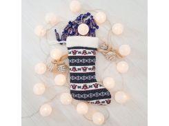 Сапог новогодний подарочный Санта Клаус 37см (2911)