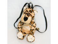 Рюкзак детский Леопард 39см (400)