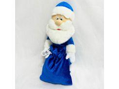 Чехол под шампанское Дед Мороз 40см синий (4542)