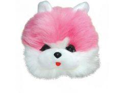 Детская маскарадная шапочка кота розовая (235-2)