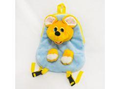 Рюкзак детский Мышка 32см голубой (2671)