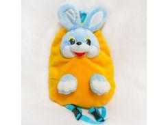 Рюкзак детский Заяц 37см желтый (2632)