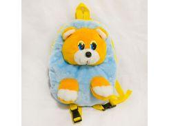 Рюкзак детский Медведь 28см голубой (2621)