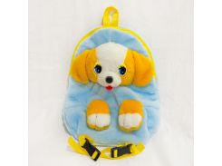 Рюкзак детский Собака 32см голубой (2881)