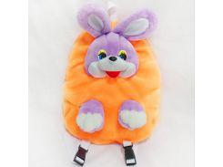 Рюкзак детский Заяц 37см оранжево-сиреневый (2634)
