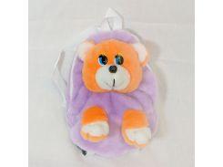 Рюкзак детский Медведь 28см сиреневый (2623)