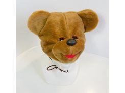 Детская маскарадная шапочка медведя коричневая (237-1)