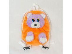 Рюкзак детский Медведь 28см оранжевый (2624)