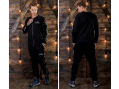 Мужской спортивный теплый костюм Valentino ( реплика ) черный Сл