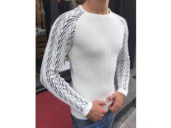 Мужской вязаный свитер код:2269Д ХЛ