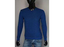 Мужской пуловер Турция А Ш  ярко-синий