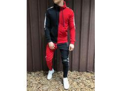 Спортивный костюм двухцветный черно-красный Сл 1200-1 52