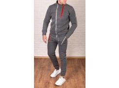 Утепленный молодежный спортивный костюммужской серый Сл 1105 С