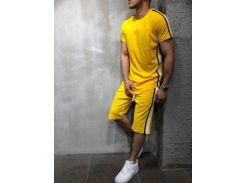 Летний мужской костюм футболка и шорты Сл 1270-1273 желтый