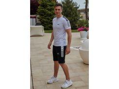 Летний мужской костюм футболка + шорты Nike Air( реплика ) Сл 1467,1468,1469 белый