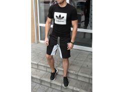 Летний спортивный костюм adidas ( копия ) футболка и шортыСл 1478,1479 черный