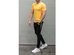 Мужской спортивный костюм Off Whiteлетний Сл 1377,1378  желтый