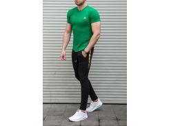Мужской спортивный костюм Off Whiteлетний Сл 1377,1378  зеленый