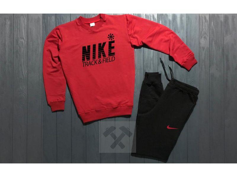a93abad2 Зимний Мужской спортивный костюм Nike красный верх черный низ L Киев