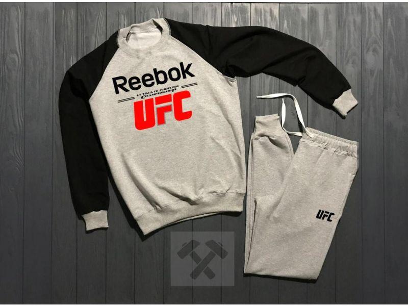 0c13ea1f Зимний мужской спортивный костюм Reebok UFC черно-серого цвета XS Киев