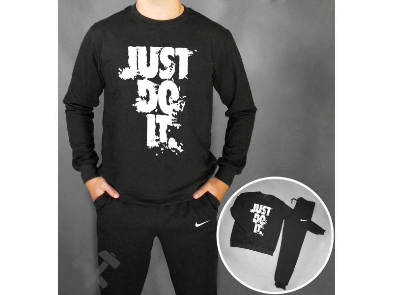 48dd4e5b Спортивный костюм Nike Jus Do It черного цвета с белой надписью Киев ...