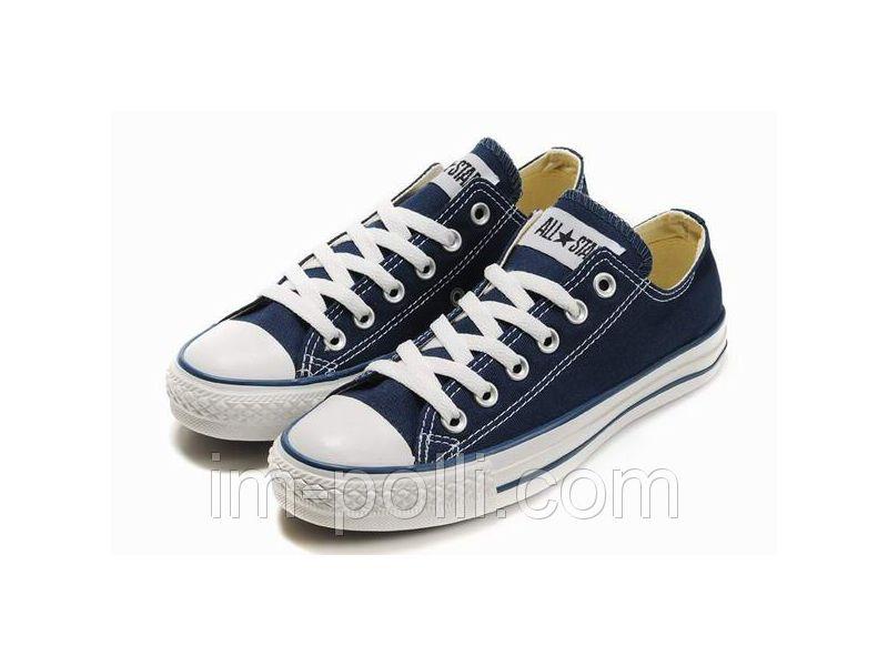 Мужские кеды converse all star темно-синие низкие купить недорого за ... b1ee8cd8d04df