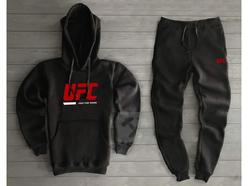 a4dfc845 Теплый мужской спортивный костюм UFC черного цвета M купить недорого ...