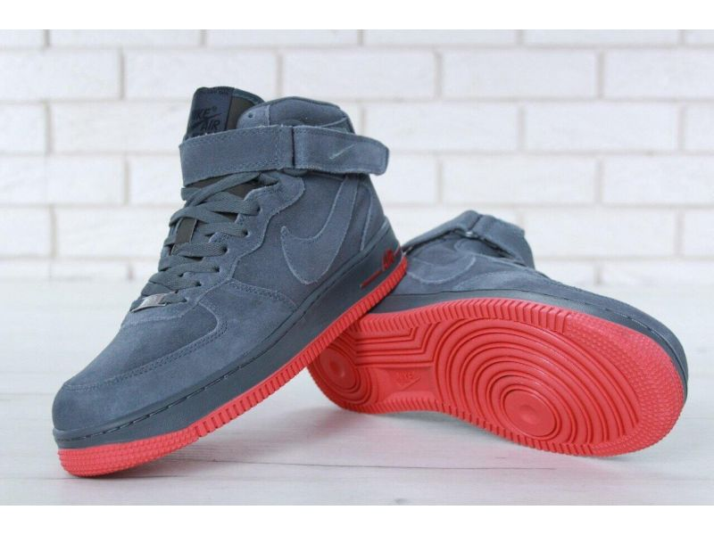 fa1d7423 ... Мужские зимние кроссовки с мехом Nike Air Force 1 High Grey Winter Киев  ...