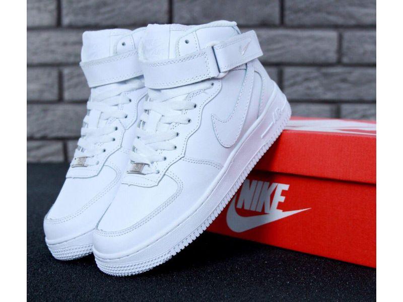 5532c1da Кроссовки с мехом Nike Air Force 1 High White Winter купить недорого ...
