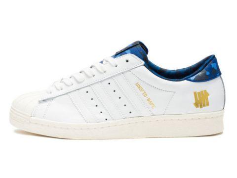 Кроссовки Adidas Superstar Undefeated X Bape X Consortium 80V White 43 Киев