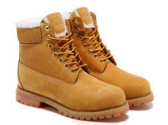 Мужские ботинки Timberland 6 inch yellow с мехом