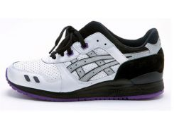 Кроссовки Asics Gel Lyte III черно-бело-фиолетовые