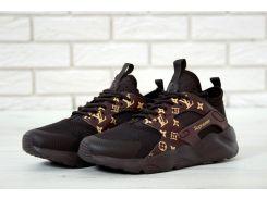 Кроссовки Nike Huarache Black Supreme Louis Vuitton 40