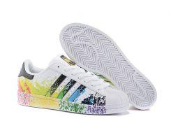 Кроссовки Adidas Superstar Rainbow Paint Splatter  37