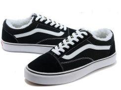 Кеды на меху Vans Old Skool Low Winter Black White 40