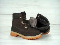 Ботинки Timberland с мехом коричневого цвета 36