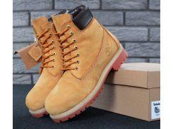 Женские Ботинки Timberland желтого цвета натуральный мех 38
