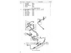 Полный перечень сборочных единиц топливопровода Т-25