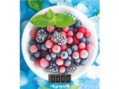 Весы кухонные электронные 5 кг (без чаши) Ягоды ViLgrand VKS-525_Berries