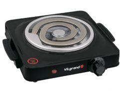 Плита электрична 1 к; 155 мм; 1000 Вт (широкий тен) VILGRAND VHP141D_BLACK