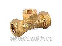 Тройник LAVITA труба-ВР-труба T/S 25x1x25
