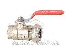 Кран шаровый для нержавеющей трубы LAVITA PxFL 15x1/2 (мама/латунь/никель)